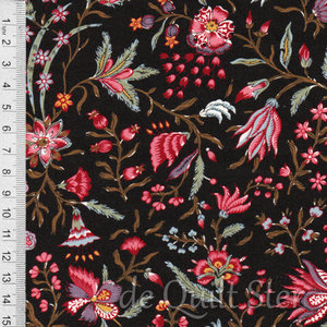 Antique Textiles Company | Chintz Provence Brown [4023]