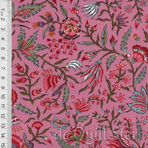 Antique Textiles Company   Chintz Provence Pink [4023]