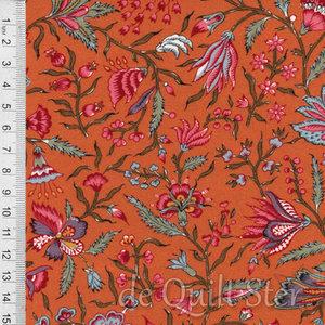 Antique Textiles Company | Chintz Provence Orange [4023]