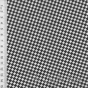 COUPON Farmhouse II | Plusjes Ruitjes zwart-wit [20325-18] 94x110cm
