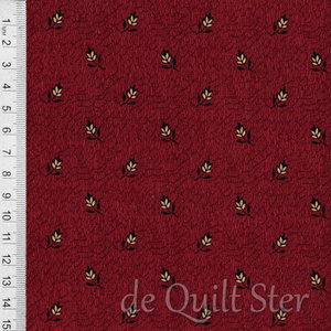 COUPON Full Circle | Lazy Leaves rood [0646] 95x110cm