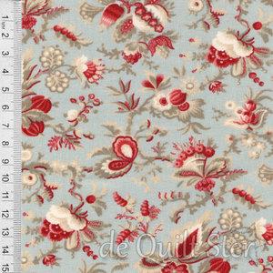 Jardin de Fleurs   Sits blauw/rood [13892-18]