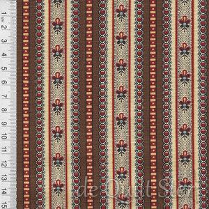 COUPON Susanna's Scraps   Randstof bruin [31581-14] 87x110cm